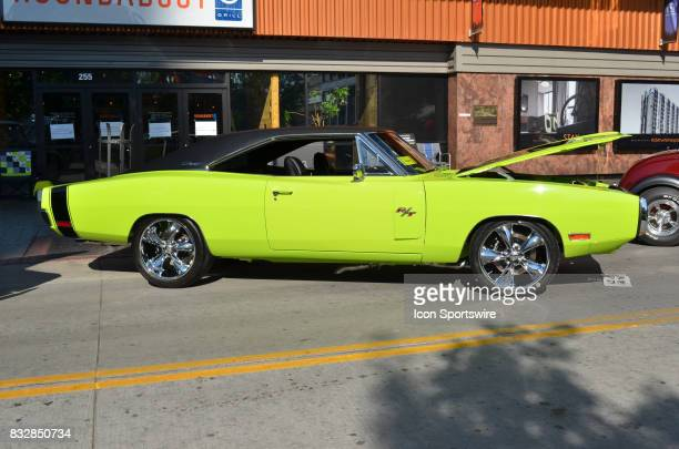Dodge Hemi Charger R/T Pro Touring on display at the Hot August Nights Custom Car Show the largest nostalgic car show in the world on August 11 2017...