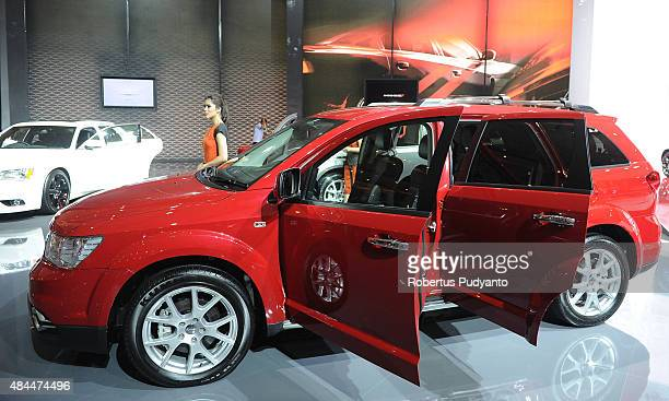 Dodge Journey is displayed in The 23rd Indonesia International Motor Show at JI EXPO Kemayoran on August 19 2015 in Jakarta Indonesia The 23rd IIMS...