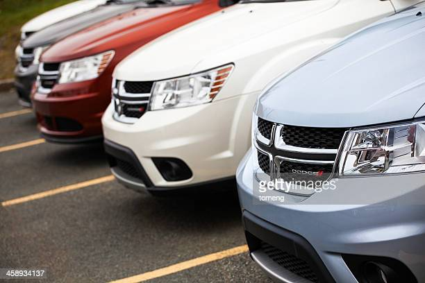 Dodge Journey Vehicles in a Row at Car Dealership