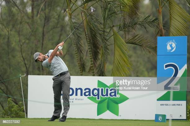 Dodge Kemmer of USA pictured during practice ahead of the Macao Open at Macau Golf and Country Club on October 17 2017 in Macau Macau