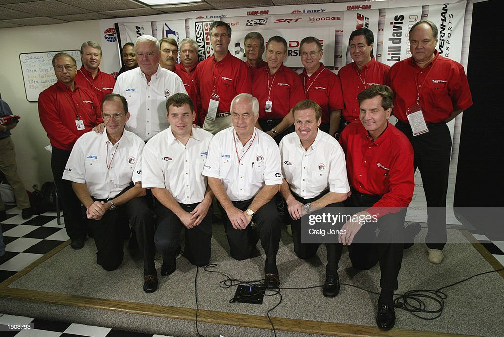 Dodge Motorsports and Team Penske racing after they announce they will be joining together starting in the 2003 season before the UAWGM Quality 500...