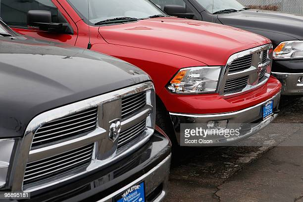 Dodge Ram pickup trucks are offered for sale at a dealership on January 20 2010 in Chicago Illinois The trucks are included in a recall of 24000...