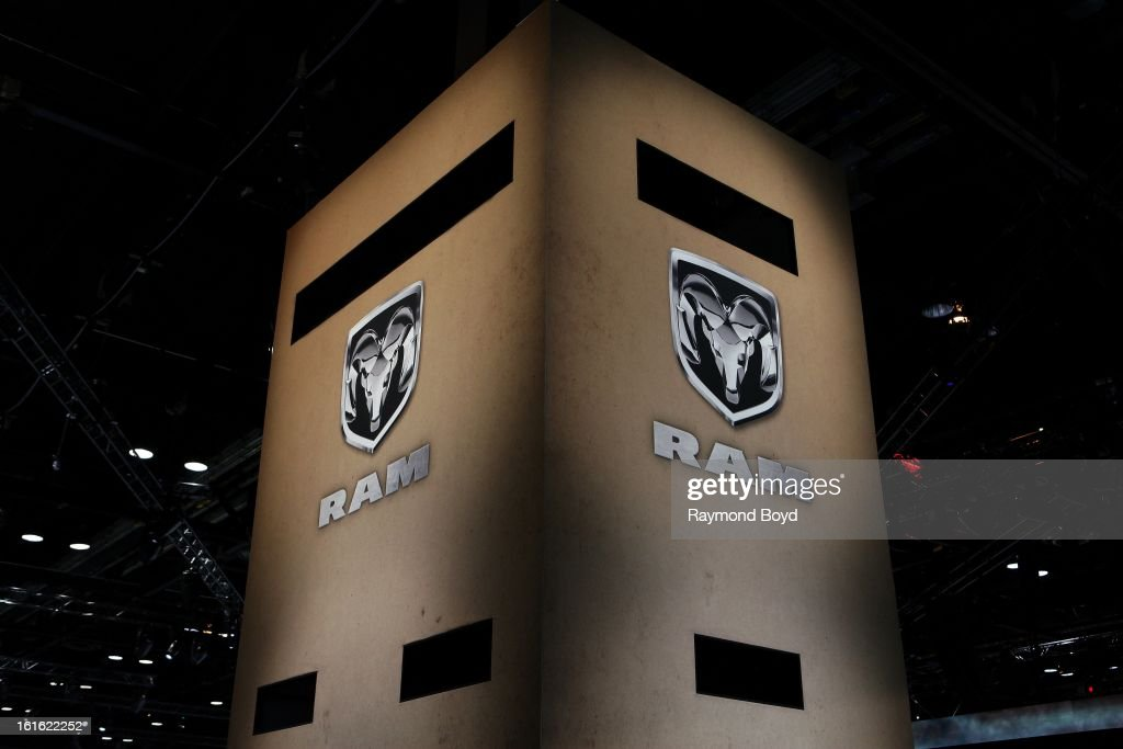 Dodge RAM Signage, at the 105th Annual Chicago Auto Show at McCormick Place in Chicago, Illinois on FEBRUARY