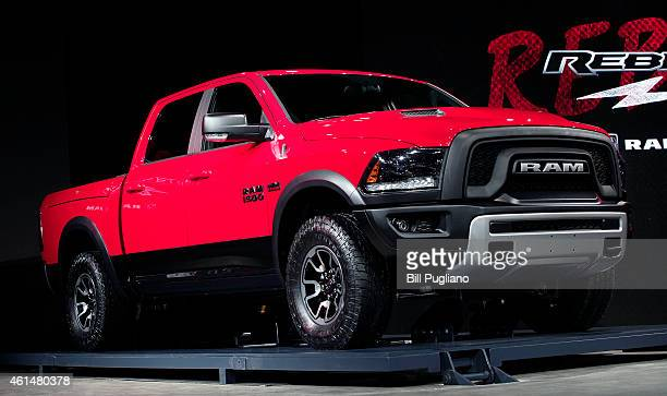 Dodge reveals the new 2015 Ram Rebel performance pickup truck to the media at the 2015 North American International Auto Show on January 13 2015 in...