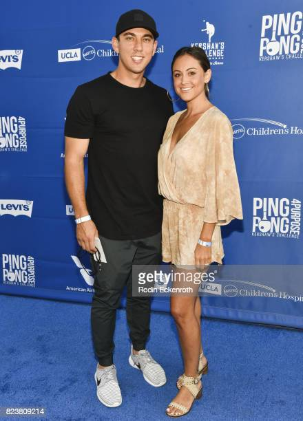 Dodgers baseball player Austin Barnes and Nicole Rappaport attend the 5th Annual Ping Pong 4 Purpose on July 27 2017 in Los Angeles California