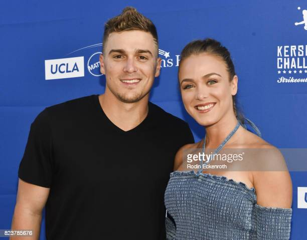 Dodgers baseball player Kike Hernandez and guest attend the 5th Annual Ping Pong 4 Purpose on July 27 2017 in Los Angeles California