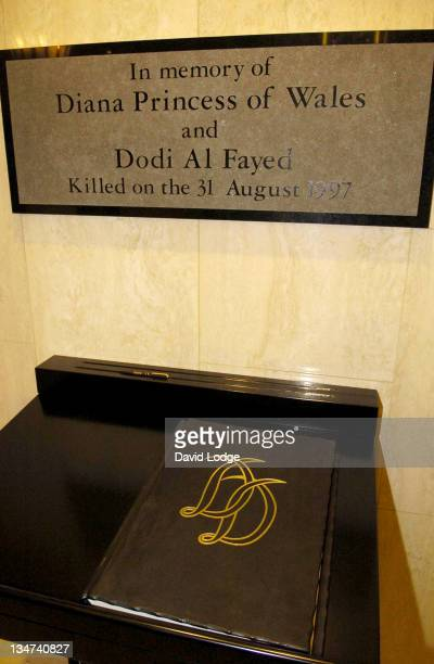 Dodi Al Fayed and Princess Diana Memorial during Dodi Al Fayed and Diana Memorial Unveiled at Harrods at Harrods in London Great Britain