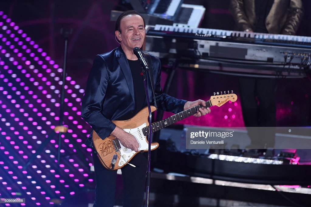 Dodi Battaglia attends the third night of the 66th Festival di Sanremo 2016 at Teatro Ariston on February 11, 2016 in Sanremo, Italy.