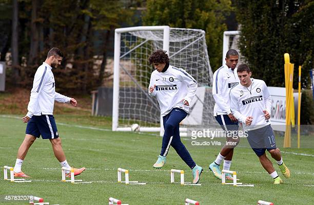 Dodo during FC Internazionale Training Session at Appiano Gentile on October 25 2014 in Como Italy