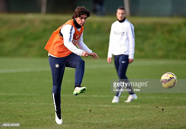Dodo during FC Internazionale Training Session at Appiano Gentile on December 06 2014 in Como Italy