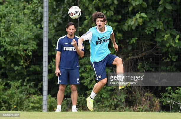 Dodo in action during a FC Internazionale Milano training session at Catholic University of America on August 01 2014 in Washington United States