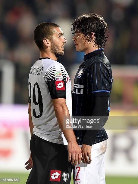 Dodo of FC Internazionale and Guido Marilungo of AC Cesena during the Serie A match between AC Cesena and FC Internazionale Milano at Dino Manuzzi...
