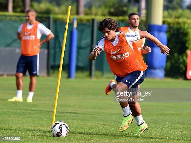 Dodo of FC Internazionale in action during a training session at Appiano Gentile on August 7 2014 in Como Italy