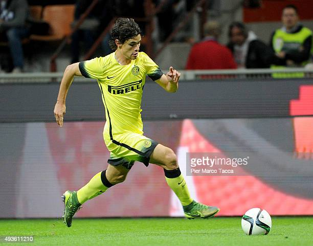 Dodo of FC Internazionale in action during the Berlusconi Trophy match between AC Milan and FC Internazionale at Stadio Giuseppe Meazza on October 21...