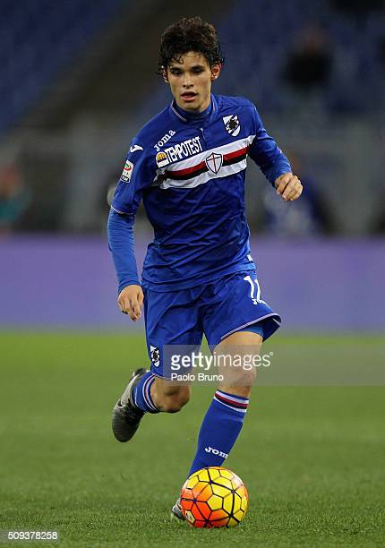 Dodo' of UC Sampdoria in action during the Serie A match between AS Roma and UC Sampdoria at Stadio Olimpico on February 7 2016 in Rome Italy