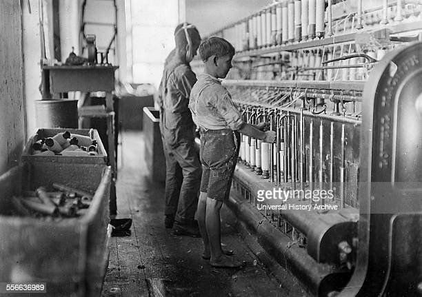 Doffers in a textile factory in Cherryville North Carolina USA 1910