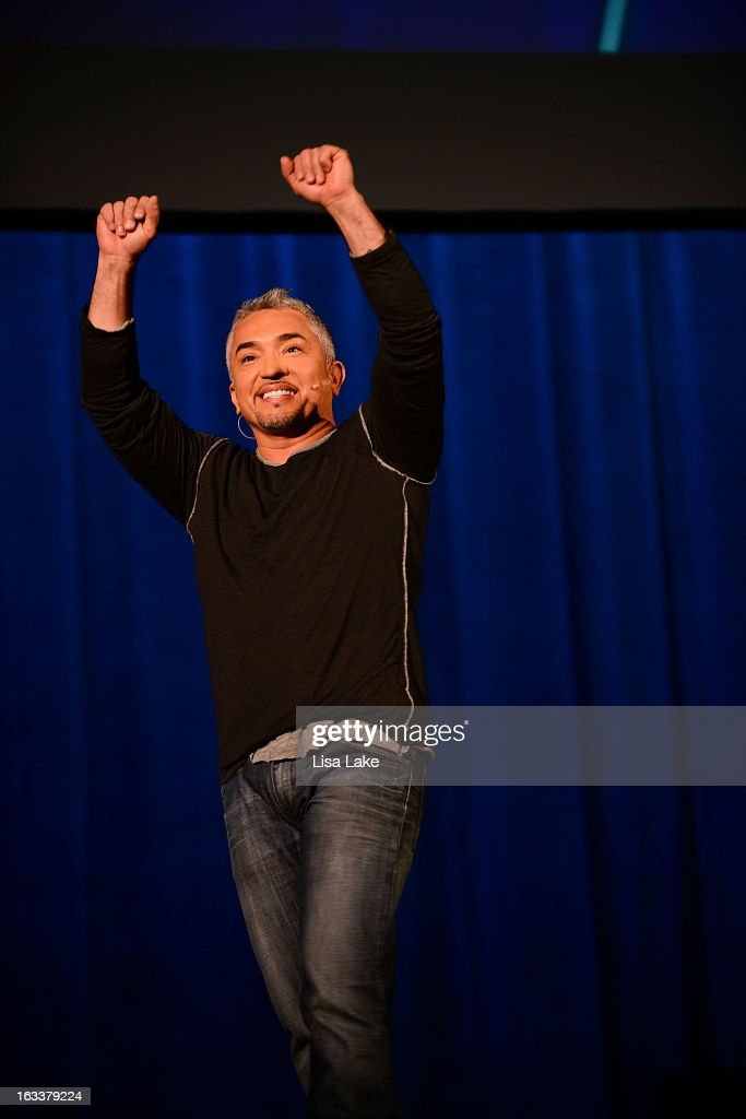 Dog Behavior Specialist Cesar Millan speaks at The State Theatre on March 8 2013 in Easton Pennsylvania