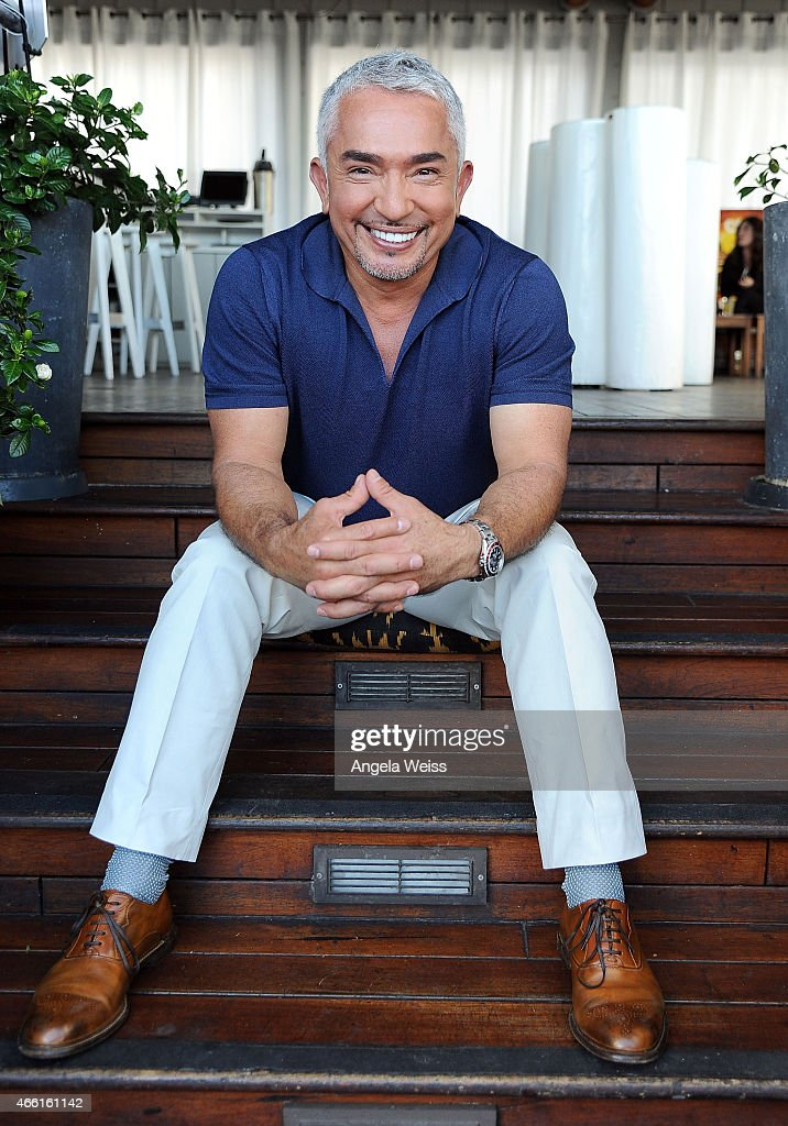 Dog behaviorist Cesar Millan attends the Premiere of Nat Geo Wild's 'Cesar 911' Season 2 at SkyBar at the Mondrian Los Angeles on March 13 2015 in...