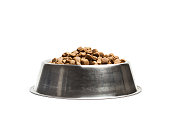 Dog food in a pet food dish