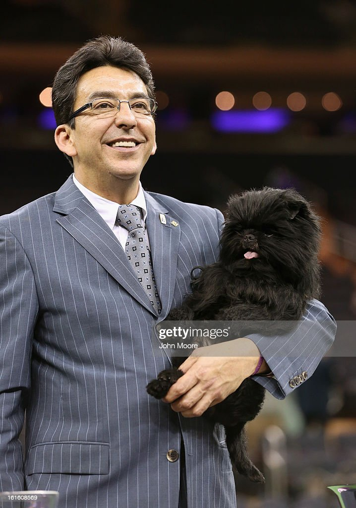 Dog handler Ernesto Lara holds Banana Joe, an Affenpincher, after he won Best in Show at the 137th Westminster Kennel Club Dog Show on February 12, 2013 in New York City. A total of 2,721 dogs from 187 breeds and varieties competed in the event, hailed by organizers as the second oldest sporting competition in America, after the Kentucky Derby.