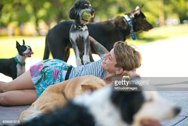 Dog keeper woman