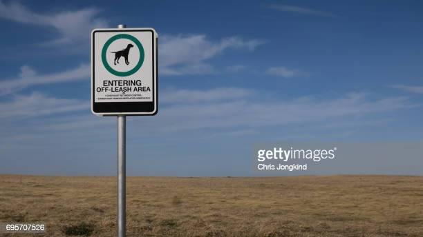 Dog Off Leash Area Sign