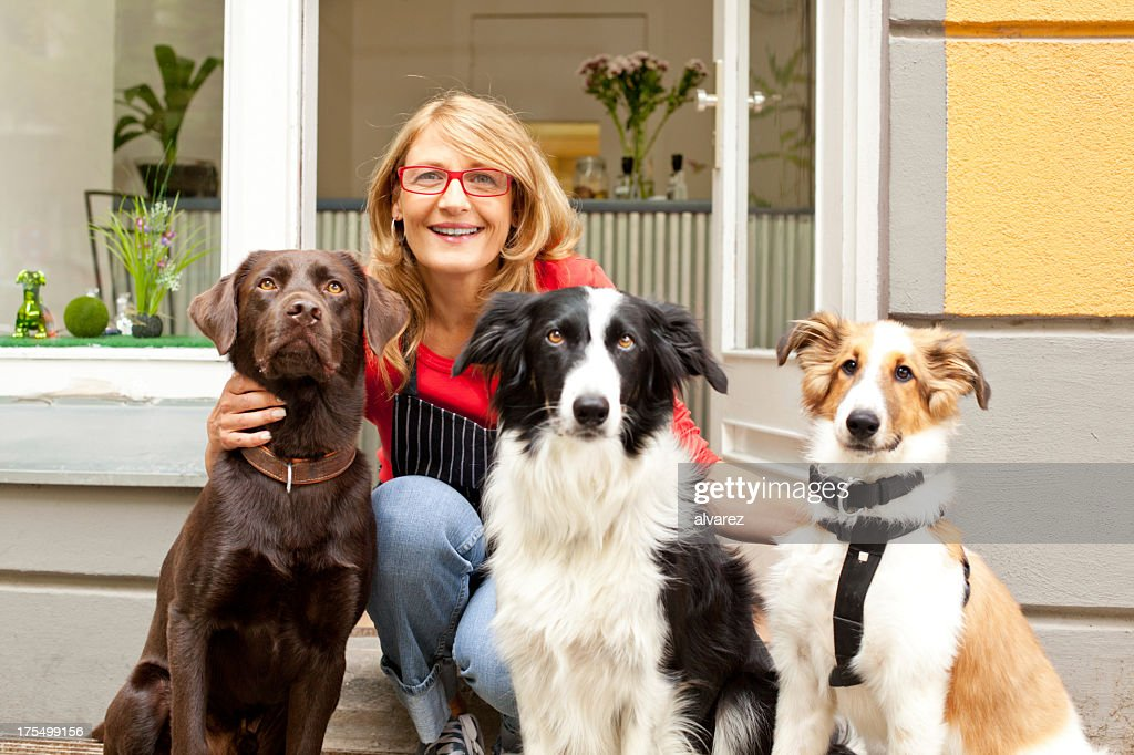Dog Salon owner : Stock Photo