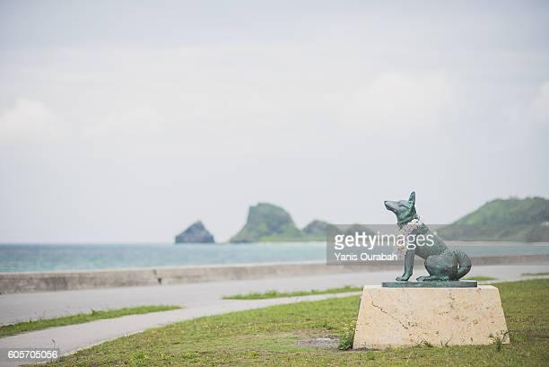 Dog statue on Zamami Island, in Okinawa islands, Ryukyu, Japan