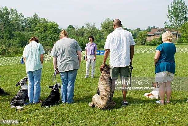 Dog training class