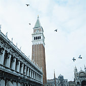 Doges Palace and Campanile, Venice, Italy