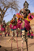 """Dogon masked dancers in the village of Irelli, Mali, 2004.To see my favorite Dogon photo, click its thumbnail below  :"""