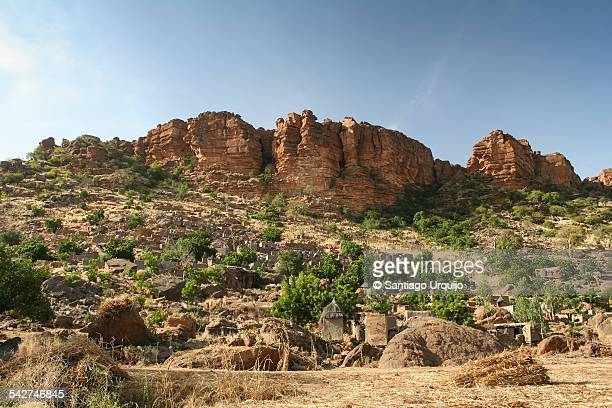 Dogon village below the Bandiagara Escarpment