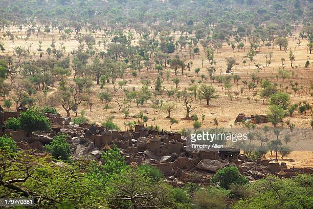 Dogon village under the Bandiagara Cliffs, Mali