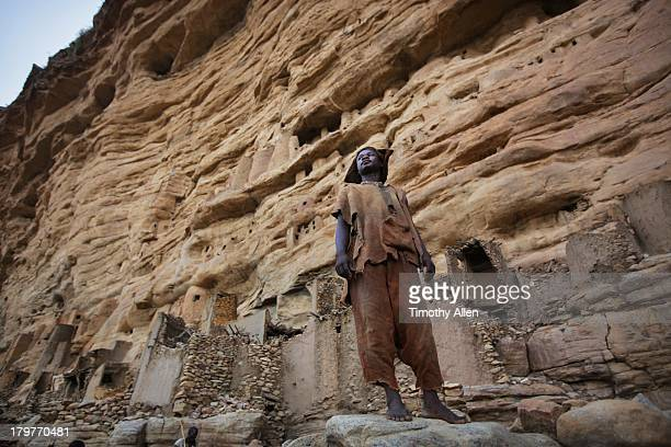 Dogon village under the Bandiagara Cliffs, Mali