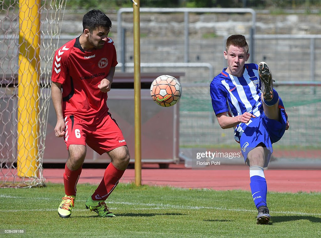 Dogukan Tanis of FC Hertha 03 During the B-juniors cup match between FC Hertha 03 and Hertha BSC on May 5, 2016 in Berlin, Germany.