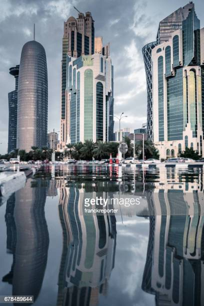 doha after the flood, water in the street