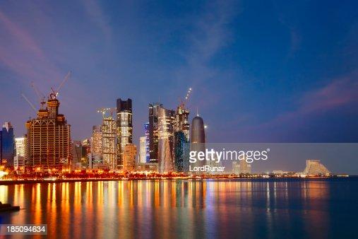Doha at nightfall