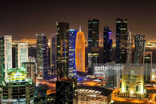 Doha by Night, Qatar