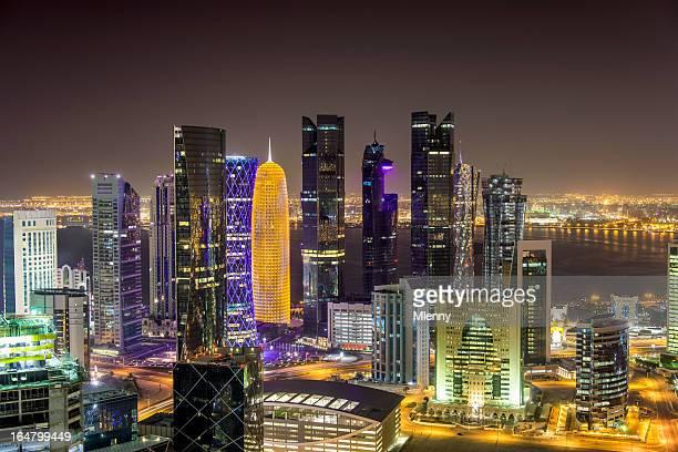 De Doha, Qatar por la noche