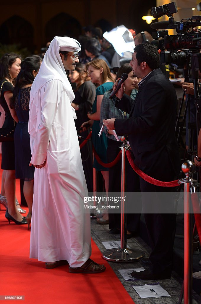 Doha Film Institute CEO Abdulaziz Bin Khalid Al-Khater attends the opening night ceremony and gala screening of 'The Reluctant Fundamentalist' during the 2012 Doha Tribeca Film Festival at Al Mirqab Hotel on November 17, 2012 in Doha, Qatar.