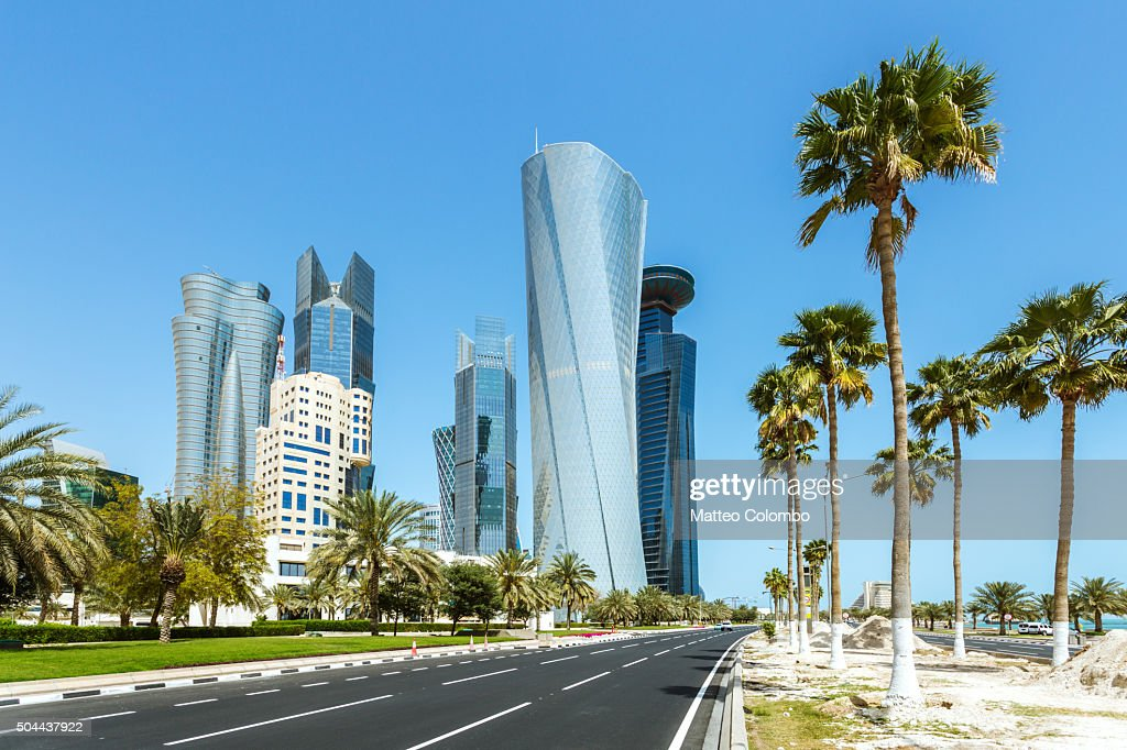Doha modern city at daytime, Qatar, Middle East