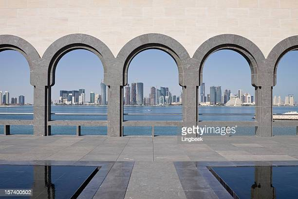 Doha Skyline framed