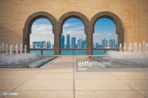 Doha Skyline framed