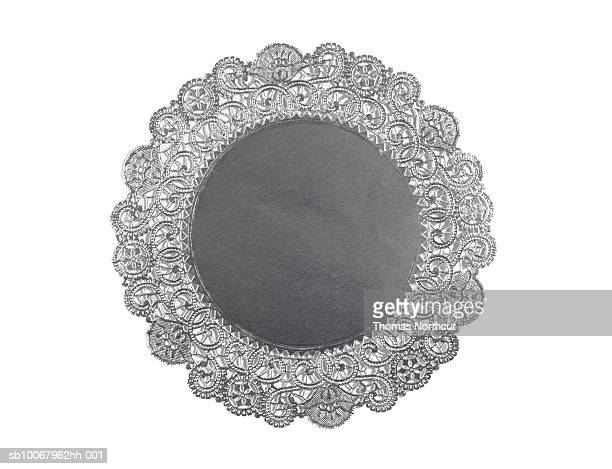 Doily on white background