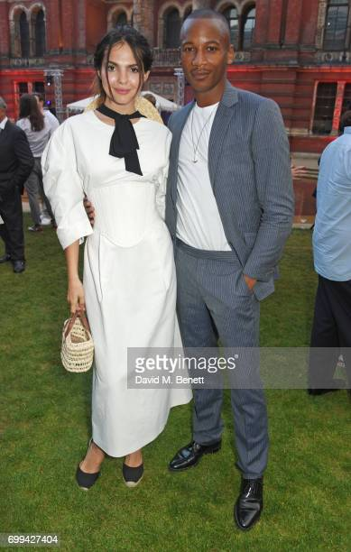 Doina Ciobanu and Eric Underwood attend the 2017 annual VA Summer Party in partnership with Harrods at the Victoria and Albert Museum on June 21 2017...