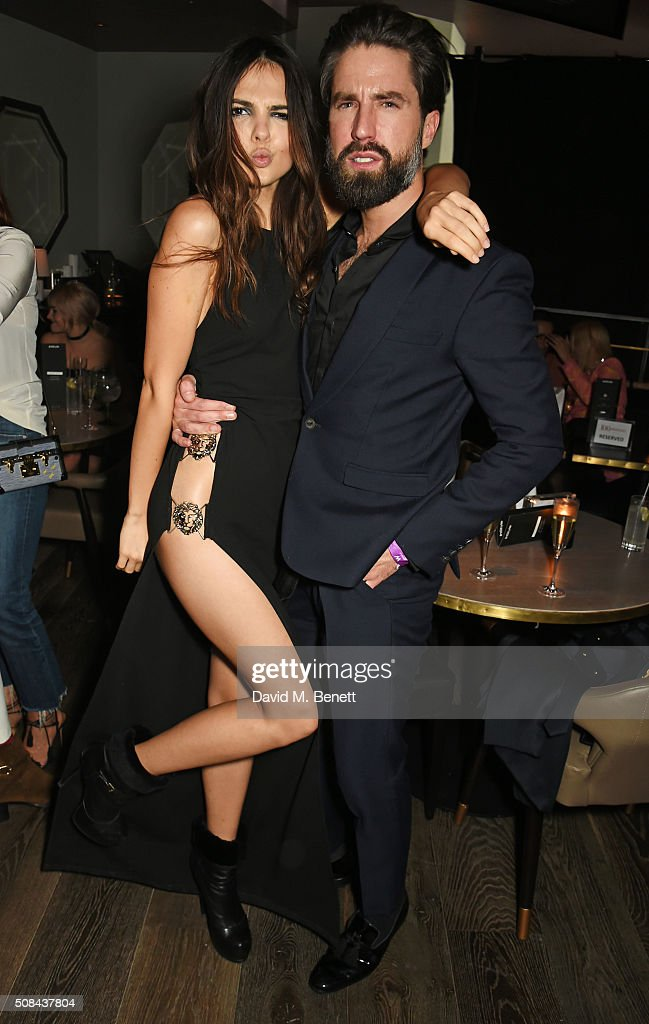 Doina Ciobanu and Jack Guinness attend the InStyle EE Rising Star party ahead of the EE BAFTA Awards at 100 Wardour St on February 4 2016 in London...