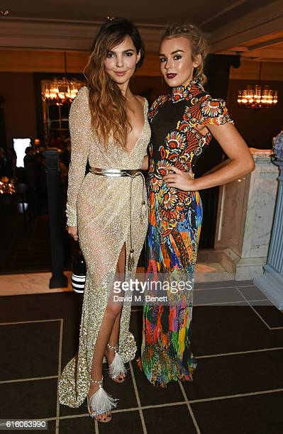 Doina Ciobanu and Tallia Storm attend the Scottish Fashion Awards in association with Maserati at Rosewood Hotel on October 21 2016 in London England