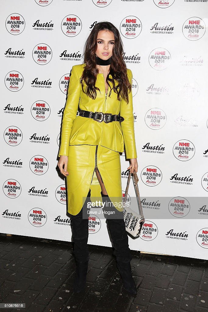 Doina Ciobanu arrives for the NME awards at O2 Academy Brixton on February 17 2016 in London England