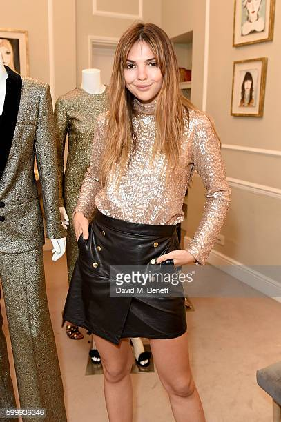 Doina Ciobanu attends a cocktail reception hosted by RACIL and MATCHESFASHIONCOM to celebrate the launch of Racil AW16 Collection on September 7 2016...