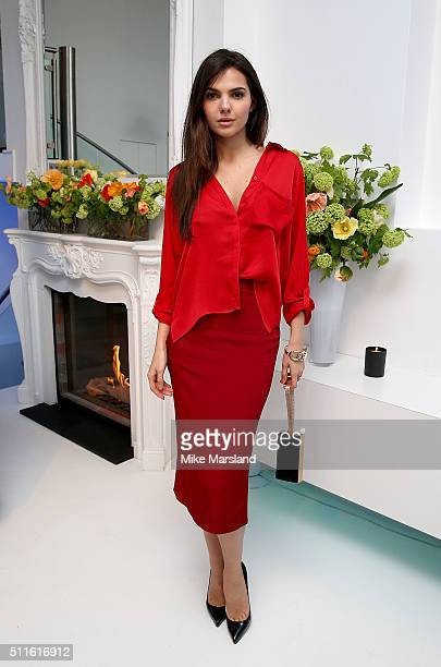 Doina Ciobanu attends as rewardStyle host a London Fashion Week Party at IceTank on February 21 2016 in London England